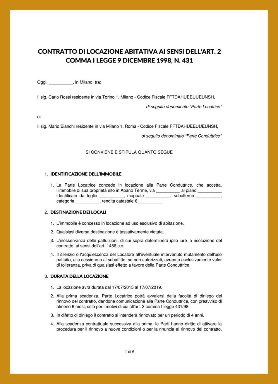 registrazione contratti di locazione